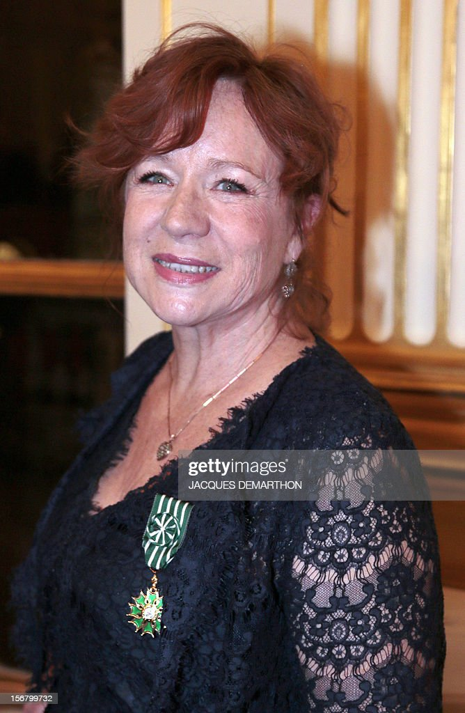 French actress and filmmaker Eva Darlan on November 21, 2012 after receiving the knight of the Order of Arts award during a ceremony at the Culture Ministry in Paris.