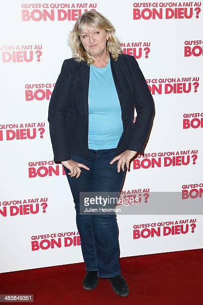 French actress and humorist Charlotte de Turckheim attends 'Qu'estce Qu'on A Fait Au Bon Dieu' Paris Premiere at Le Grand Rex on April 10 2014 in...