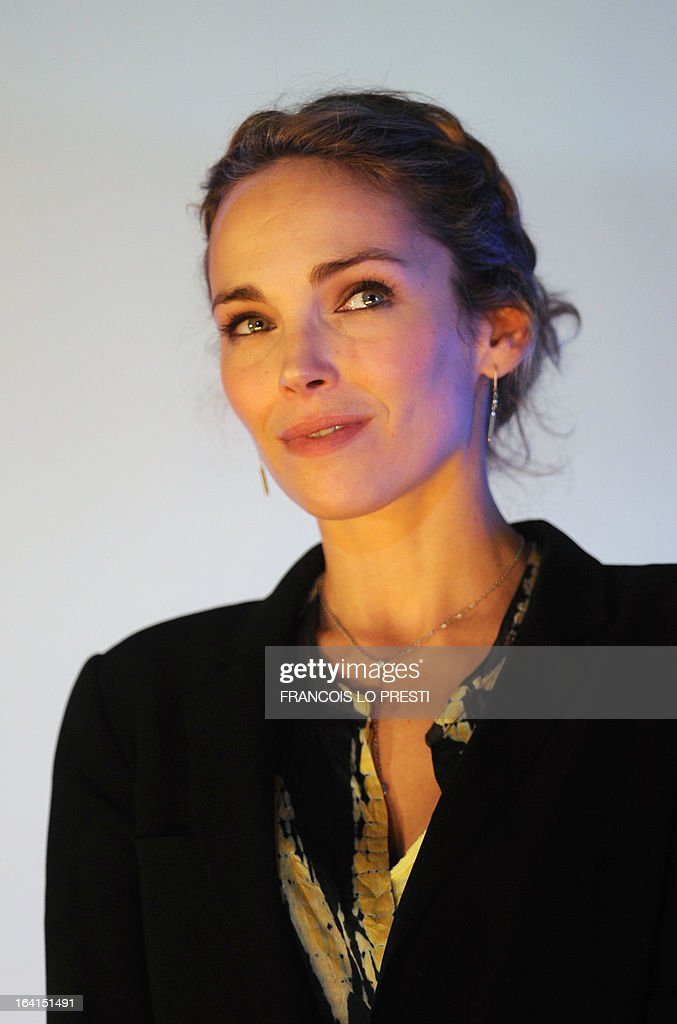 French actress and member of the jury for fictions, Claire Keim addresses during Valenciennes Film Festival on March 20, 2013 in Valenciennes, northern France. Valenciennes Film Festival runs from March 18 to 24.