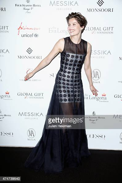 French actress and model Laetitia Casta attends the Global Gift Gala at Four Seasons Hotel George V on May 25 2015 in Paris France
