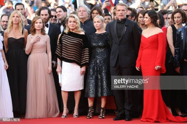 French actress and President of the Camera d'Or jury Sandrine Kiberlain French actress Isabelle Huppert French actress Catherine Deneuve French...