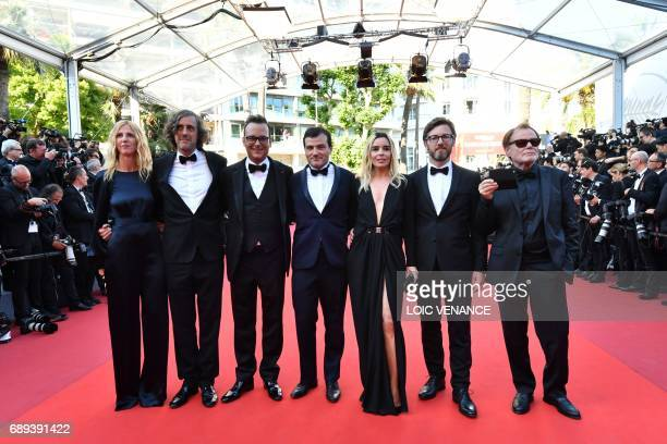 French actress and President of the Camera d'Or jury Sandrine Kiberlain French director and member of the Camera d'Or jury Guillaume Brac Swiss...