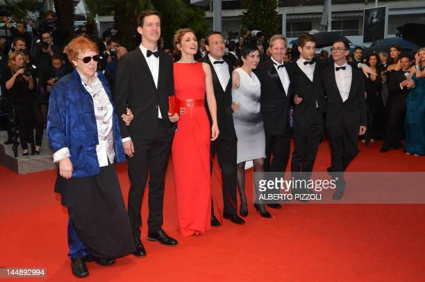 French actress and president of the Queer palm jury Julie Gayet arrive with members of the jury for the screening of 'Amour' presented in competition...