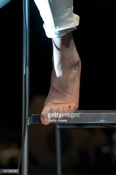 French actress and singer Charlotte Gainsbourg performs on the stage at Theater Circo Price on June 27 2012 in Madrid Spain