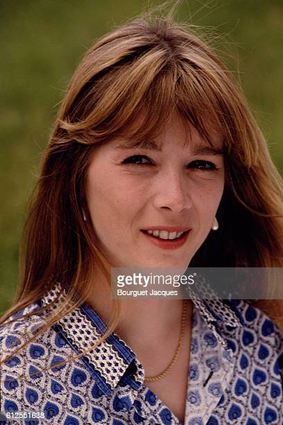 French actress and singer Helene Rolles at home in Le Mans