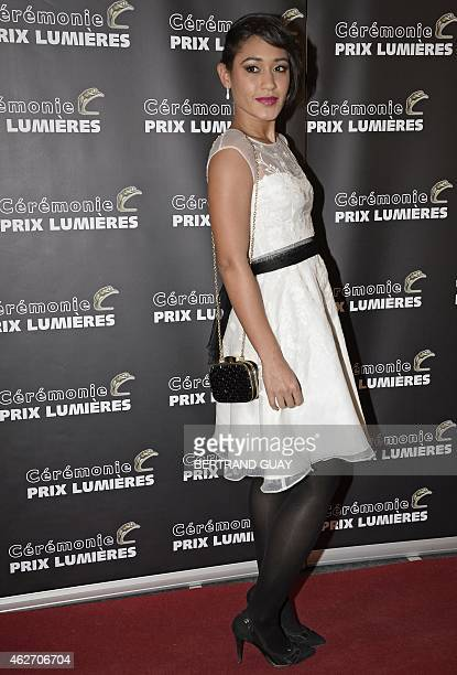 French actress and singer Josephine Jobert poses as she arrives for the 20th Lumieres awards ceremony on February 2 2015 in Paris AFP PHOTO /...