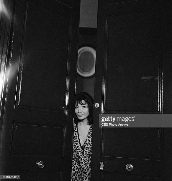 French actress and singer Juliette Greco at home for PERSON TO PERSON Image dated December 1959