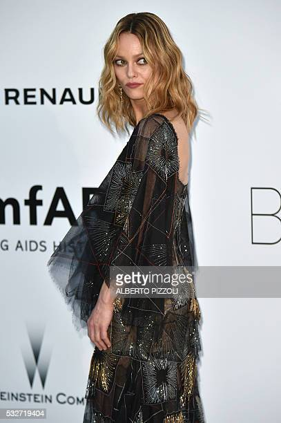 French actress and singer Vanessa Paradis poses as she arrives for the amfAR's 23rd Cinema Against AIDS Gala on May 19 2016 in Antibes southeastern...