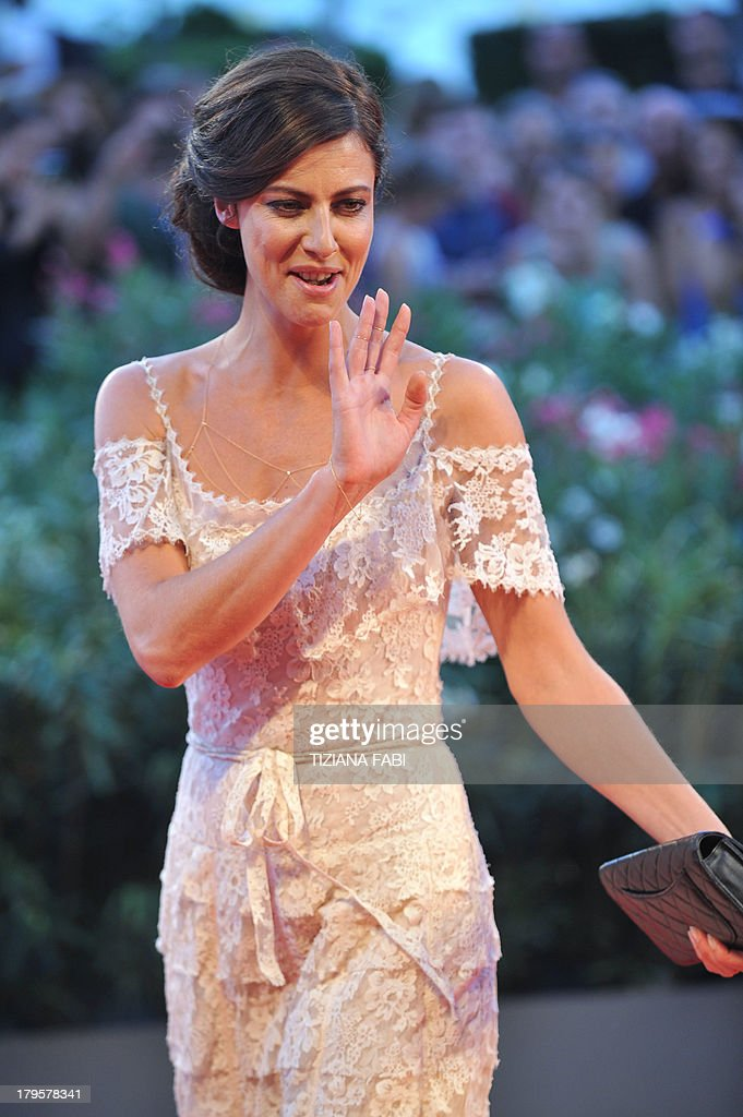 French actress Anna Mouglalis arrives for the screening of 'La Jalousie' presented in competition at the 70th Venice Film Festival on September 5, 2013 at Venice Lido.