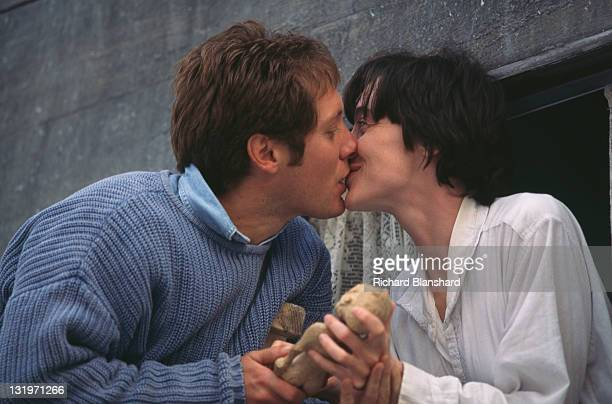 French actress Anne Brochet stars with American actor James Spader in the film 'Driftwood' 1997