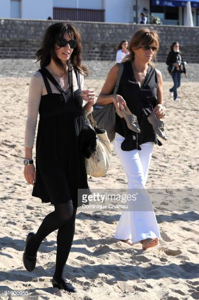 French actress Anne Parillaud and French director and actress Laure Duthillieul arrive for nthe photocall during the International Young Directors...