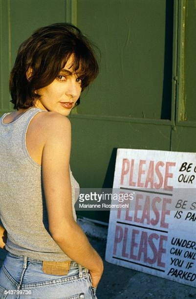 French actress Anne Parillaud in Los Angeles