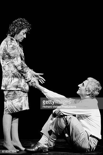 French actress Annie Girardot rehearses her new show Marguerite et les Autres Une Vie sans Entracte directed by Bob Decout and written by JeanLoup...