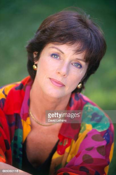 French actress Anny Duperey during the filming of the television series Marseille directed by Didier Albert