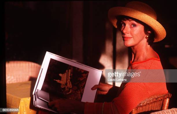 French actress Anny Duperey during the filming of the television series 'Marseille' directed by Didier Albert