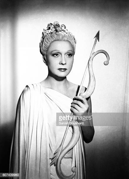 French actress Arletty on the set of Les Enfants du Paradis written by Jacques Prévert and directed by Marcel Carné