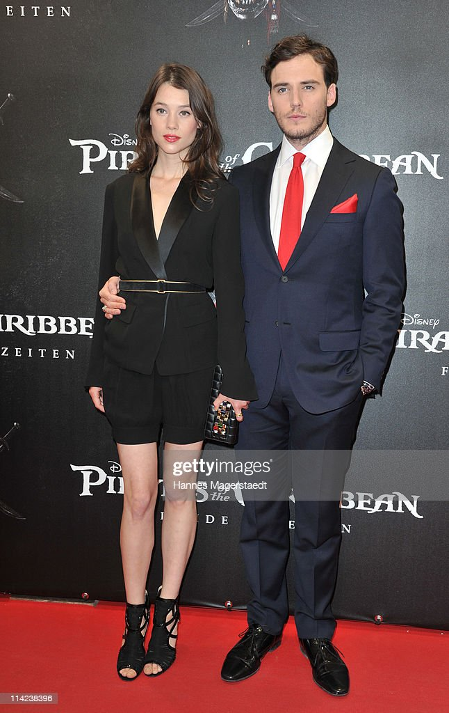 French actress Astrid-Berges Frisbey and British actor Sam Claflin pose during the Germany Premiere of 'Pirates Of The Caribbean: On Stranger Tides' at the Mathaeser Filmpalast on May 16, 2011 in Munich, Germany.