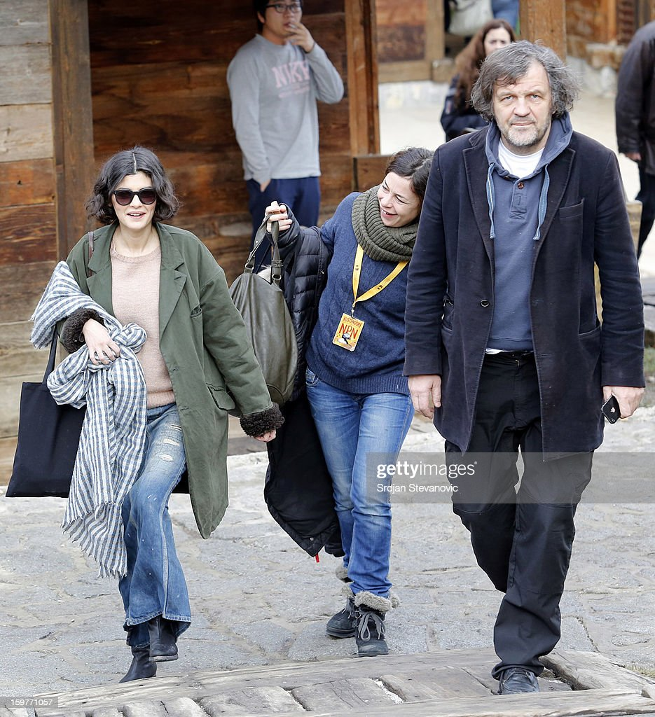 French actress <a gi-track='captionPersonalityLinkClicked' href=/galleries/search?phrase=Audrey+Tautou&family=editorial&specificpeople=212727 ng-click='$event.stopPropagation()'>Audrey Tautou</a> (L) and Film director <a gi-track='captionPersonalityLinkClicked' href=/galleries/search?phrase=Emir+Kusturica&family=editorial&specificpeople=210555 ng-click='$event.stopPropagation()'>Emir Kusturica</a> (R) attends day 3 of the Kustendorf Film Festival on January 20, 2013 in Drvengrad, Serbia.