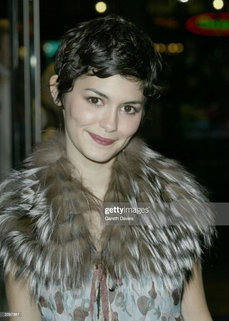 French actress Audrey Tautou at the premiere of her new film Dirty Pretty Things in the Odeon, Leicester Square, London on November 6, 2002. Dirty Pretty Things was the opening film at the 46th London Film Festival on this date.