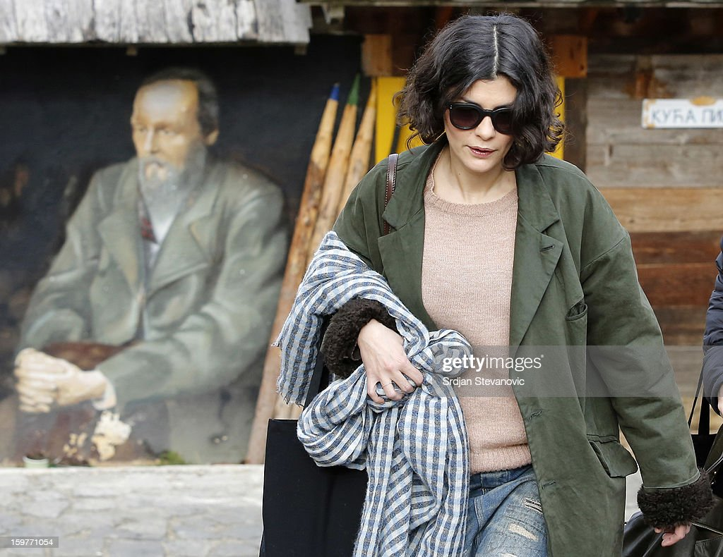 French actress Audrey Tautou attends day 3 of the Kustendorf Film Festival on January 20, 2013 in Drvengrad, Serbia.