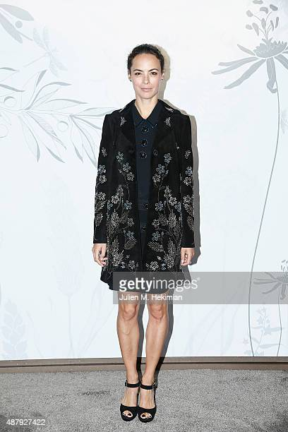 French actress Berenice Bejo attends the Opening Event of Chaumet Ephemeral Museum at Place Vendome on September 11 2015 in Paris France