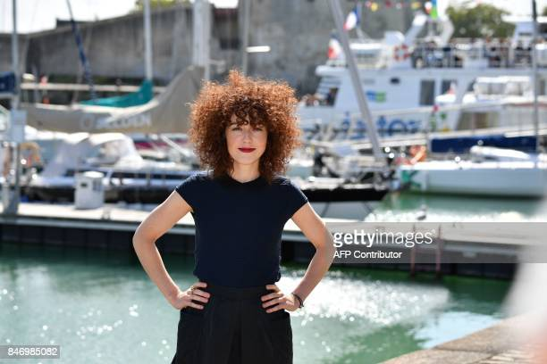 French actress Blandine Bellavoir poses poses during the 19th edition of the 'Festival de fiction TV' in La Rochelle western France on September 14...