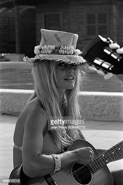 French actress Brigitte Bardot at Epi Plage in SaintTropez France in August 1967