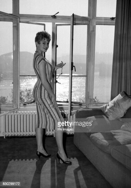 French actress Brigitte Bardot at the Savoy hotel in London prior to a Royal Film Performance