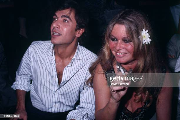 French actress Brigitte Bardot during her 50th birthday party in a New York night club
