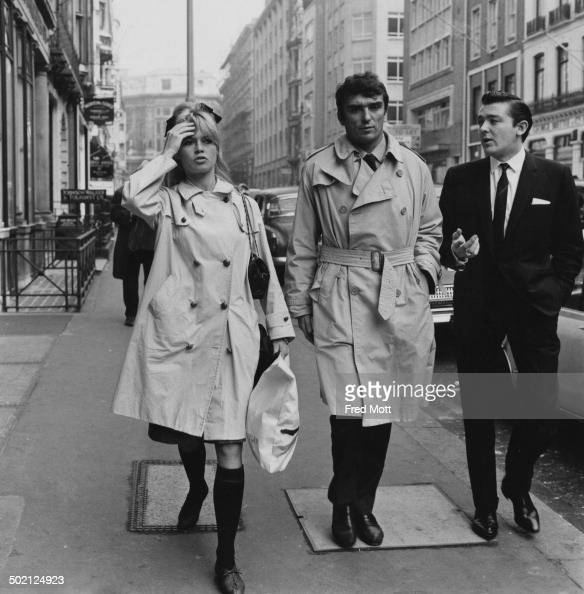 French actress Brigitte Bardot out shopping during a visit to London 26th October 1963