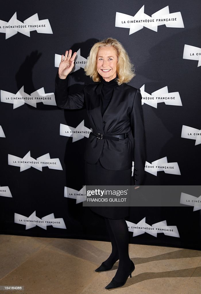 French actress Brigitte Fossey poses during a photocall prior to the premiere screening of the movie 'Amour', awarded the 2012 Cannes film festival Palme d'Or, on October 15, 2012 in Paris.
