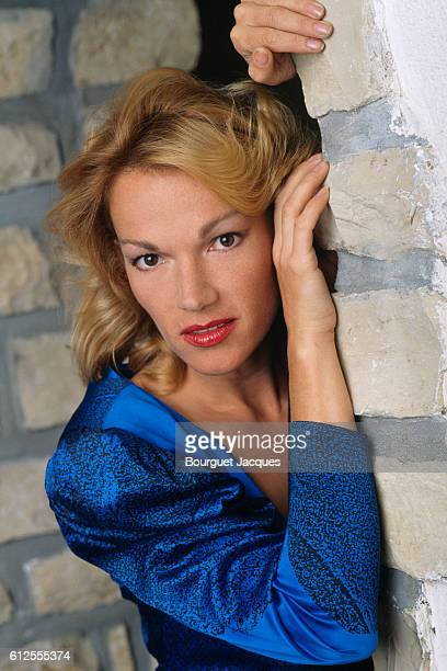 French actress Brigitte Lahaie at home