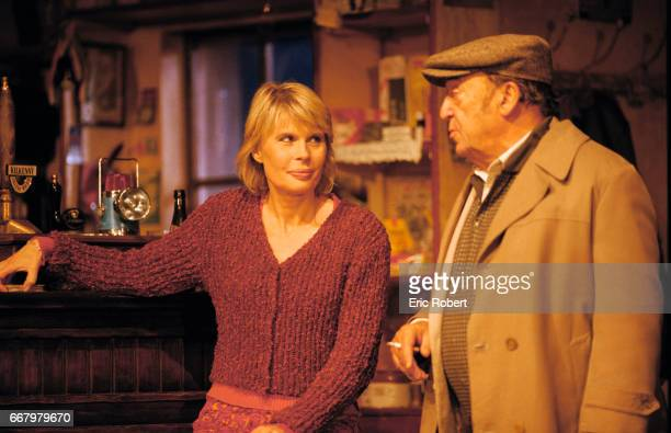 French actress Candice Patou and actor JeanMarc Thibault rehearse for Conor McPherson's play The Weir also known as La Fille de Dublin at L'Espace...