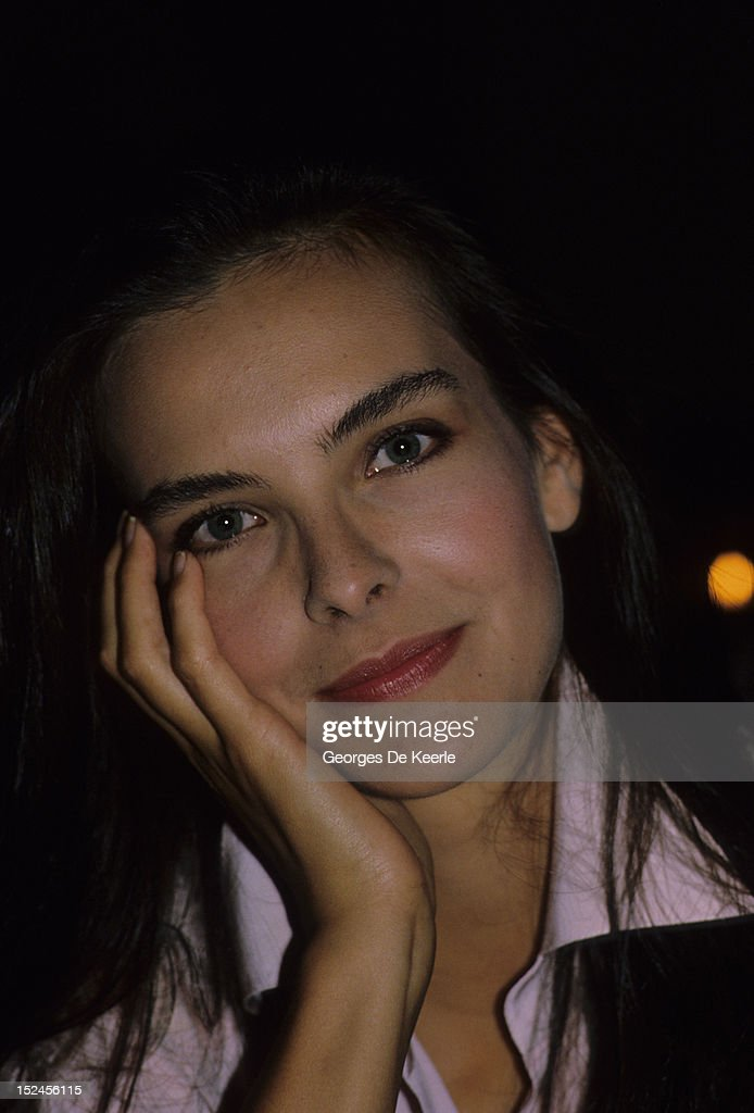 French actress <a gi-track='captionPersonalityLinkClicked' href=/galleries/search?phrase=Carole+Bouquet&family=editorial&specificpeople=208685 ng-click='$event.stopPropagation()'>Carole Bouquet</a> in Trouville, France on August 10, 1985.