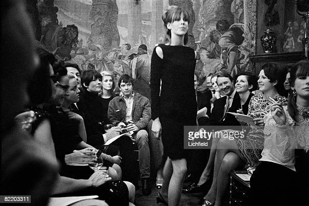 French actress Catherine Deneuve and her husband British photographer David Bailey at the first Annacat Fashion Show at 100 Cheyne Walk London on 1st...