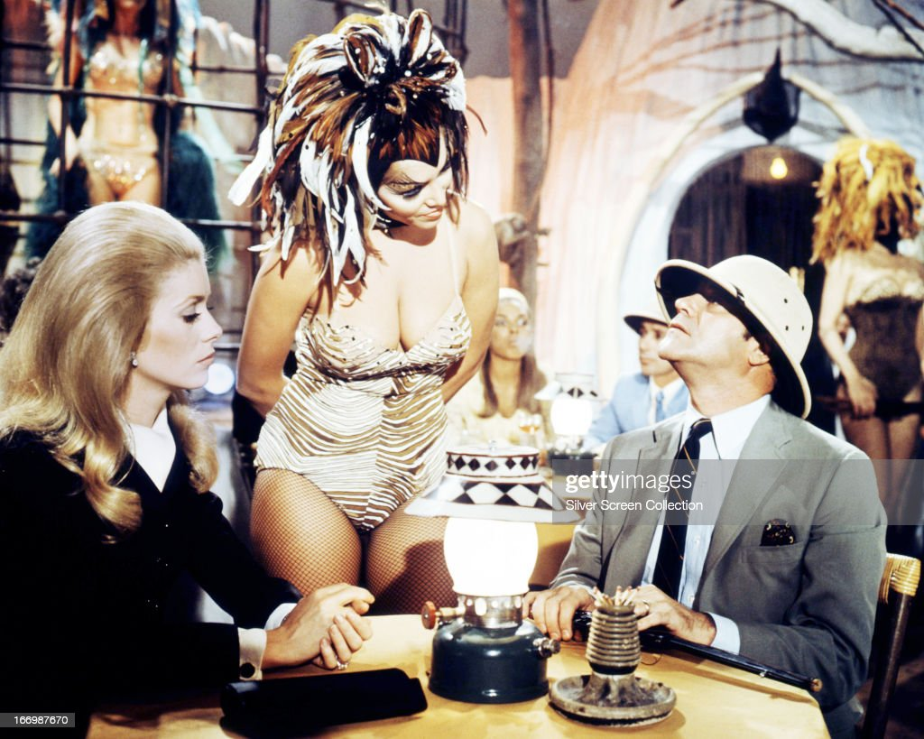 French actress Catherine Deneuve (left), as Catherine Gunther, and American actor Jack Lemmon (1925 - 2001) as Howard Brubaker, in a scene from 'The April Fools', directed by Stuart Rosenberg, 1969.