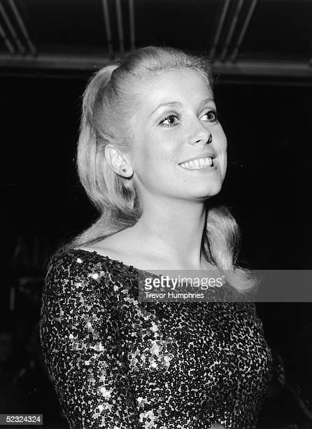 French actress Catherine Deneuve at the world premiere of Roman Polanski's psychological thriller 'Repulsion' in which she stars at the Rialto cinema...