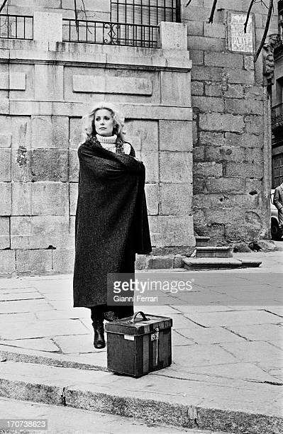 French actress Catherine Deneuve during the filming of 'Tristana' directed by Luis Bunuel Madrid Spain 1973