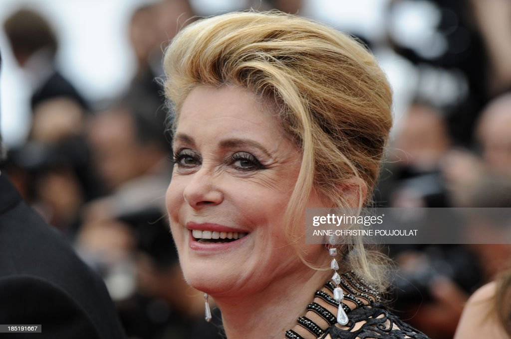 French actress Catherine Deneuve poses before the closing ceremony and the screening of 'Les Bien-Aimes' (Beloved) at the 64th Cannes Film Festival on May 22, 2011 in Cannes.