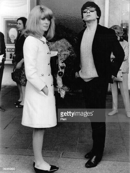 French actress Catherine Deneuve with her husband English photographer David Bailey at the Festival of Cinema in Cannes