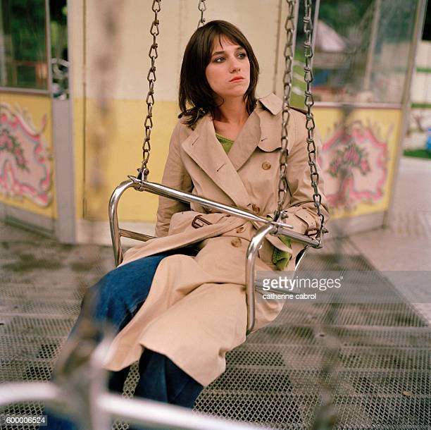 French actress Charlotte Gainsbourg on the set of the film 'Felix et Lola' directed by Patrice Leconte