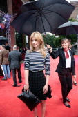 French actress Clemence Poesy arrives for a panel talk with British actor Michael Caine at the Black Box during the Munich Film Festival on June 29...