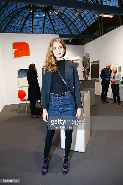 French actress Dolores Doll attends the 'Art Paris Art Fair 2016' at Grand Palais on March 30 2016 in Paris France