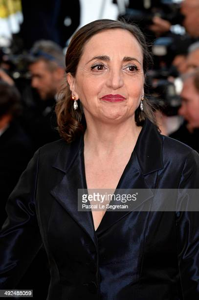 French actress Dominique Blanc attends the 'Two Days One Night' premiere during the 67th Annual Cannes Film Festival on May 20 2014 in Cannes France