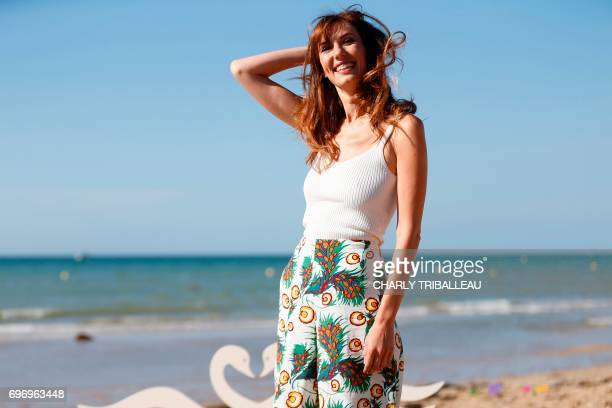 French actress Doria Tillier poses during a photocall for the Cabourg Romantic Film Festival in Cabourg northwestern France on June 17 2017 / AFP...