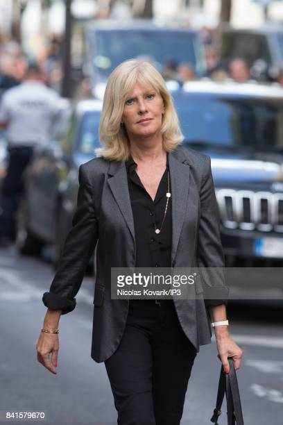 French Actress Elisa Servier attends Mireille Darc's Funeral at Eglise Saint Sulpice on September 1 2017 in Paris France French actress died aged of...