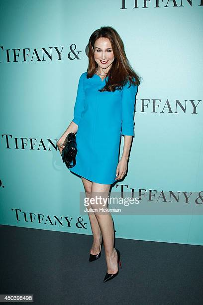 French actress Elsa Zylberstein attends the Tiffany Co Flagship Opening on the Champs Elysee on June 10 2014 in Paris France