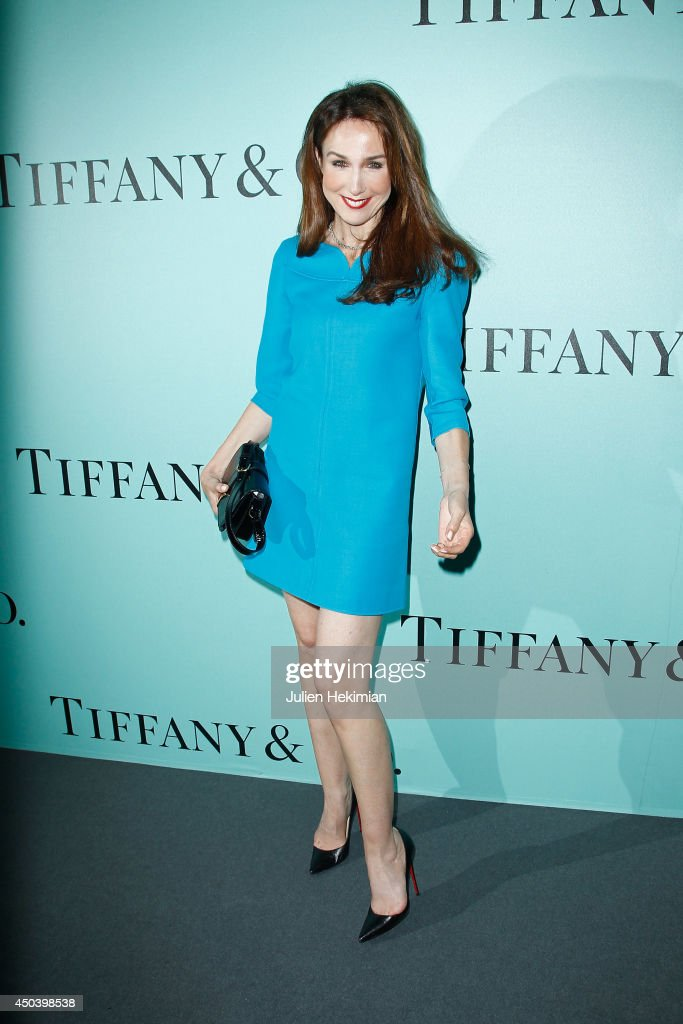 French actress Elsa Zylberstein attends the Tiffany & Co Flagship Opening on the Champs Elysee on June 10, 2014 in Paris, France.