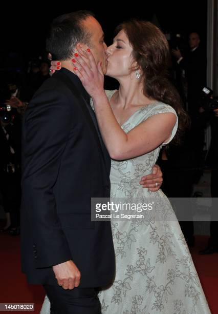 French actress Emilie Dequenne and guest attend 'The Angels' Share' Premiere during 65th Annual Cannes Film Festival at Palais des Festivals on May...