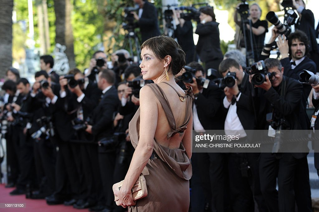French actress Emmanuelle Beart arrives for the screening of 'Des Hommes et des Dieux' (Of God and Men) presented in competition at the 63rd Cannes Film Festival on May 18, 2010 in Cannes.